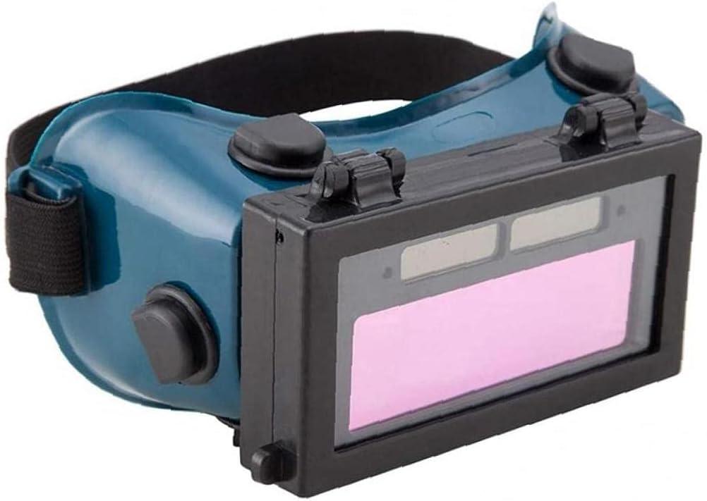 Pinicecore Giro Automático De Soldadura De Oscurecimiento Casco De Cubierta Gafas Solares Ojos Gafas Gas Encima Protección De Los Ojos De La Lente (Verde Oscuro)