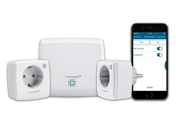 Homematic IP Smart Home Starter Set Licht, Phasenabschnitt, zum Dimmen und Ein- bzw. Ausschalten von dimmbaren LEDs, Energies