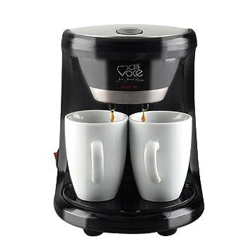 Máquina Automática Eléctrica Del Café Del Café Express Del Goteo De Las Cafeteras 450W 2 Tazas Para El Hogar: Amazon.es: Hogar
