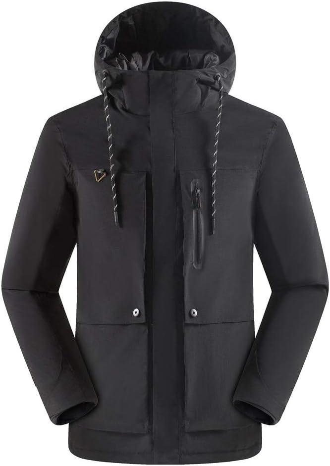 スキーウェア スノーボード Ski Jacket - 男性用のスノーボードジャケットCold Wind Snowアウトドアジャケット (色 : ブラック, サイズ : XXL) ブラック XX-Large