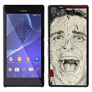 // PHONE CASE GIFT // Duro Estuche protector PC Cáscara Plástico Carcasa Funda Hard Protective Case for Sony Xperia T3 / Man Psycho America President Flag Usa /