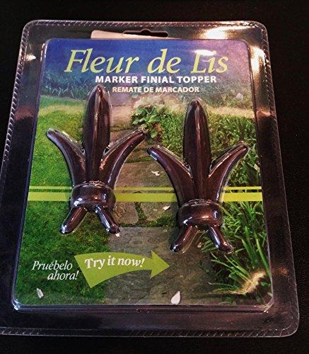 Architectural Mailboxes 3684RZ Topper Fleur De Lis Rubbed Bronze Marker Pole (2-Pack) -