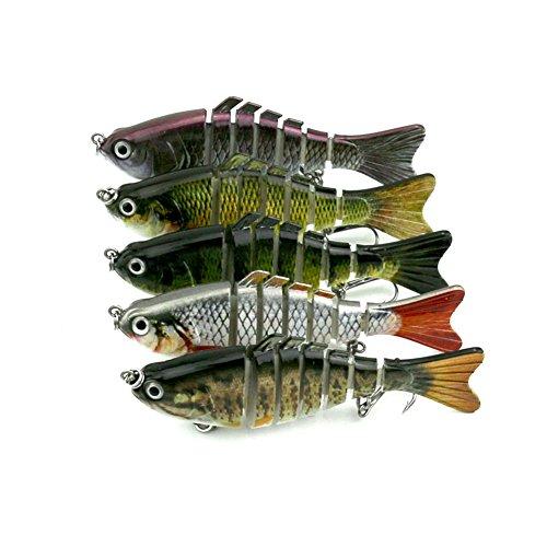 Fishing lure hard bait bass for 7 segment trout swimbait for Amazon fishing gear