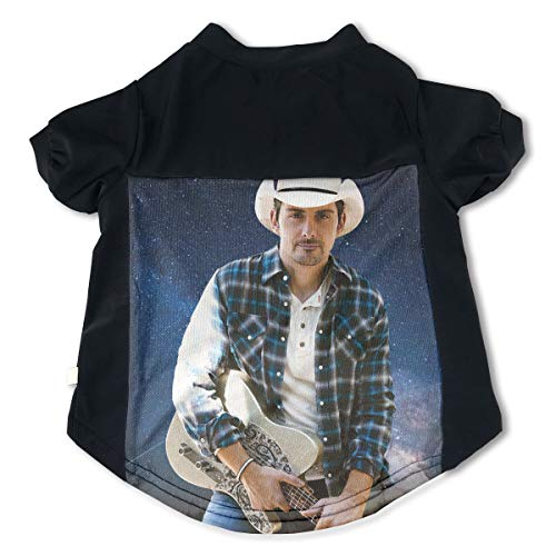 Dogs Brad Paisley Adorable Music Band Fans Pet Tee Clothing L Gift ()