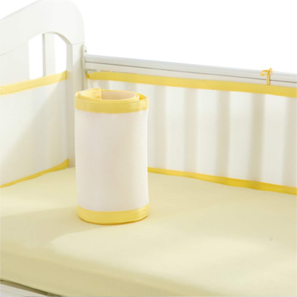 Blue Liitrton Breathable Baby Crib Bumper Pads Collision-Proof Nursery Bedding Protect Bumper Pads Machine Washable