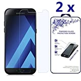 [2-PACK] Nacodex For Samsung Galaxy A7 (2017) [Will Not for 2016 Version] [Tempered Glass] Screen Protector [0.3mm Ultra Thin 9H Hardness 2.5D Round Edge] with Lifetime Replacement Warranty