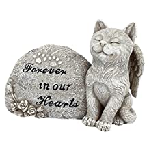 Design Toscano QL593932 Forever in Our Hearts Memorial Cat Statue Gray