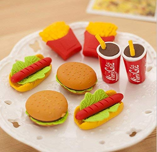 Magnolora 36 Piece Mini Cute Food Shape Rubber Pencil Eraser Stationery Erasers School Office Supplies Gift for Children, Kids, Students by Magnolora (Image #1)
