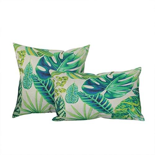 Error Page Costume (Hot Sale!2PCs Peacock Feather Printing Pillowcase Linen Cotton Hidden Zipper Sofa Cushion Cover Home Decor (B))