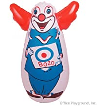 "Original Bozo the Clown Bop Bag Inflatable Punching Toy 7"" Small Desk Size by Rocket USA"