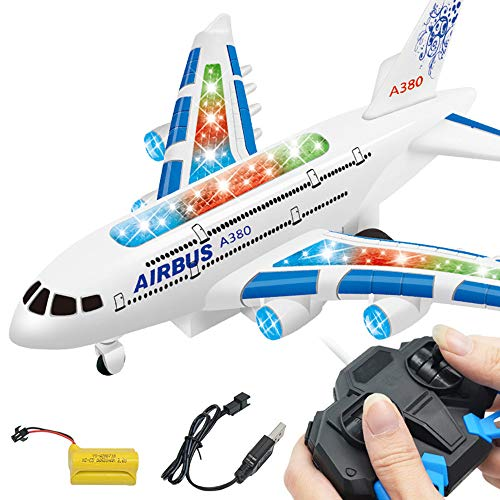 Control Airplane Flight Aeroplane Plane Electric RC Kids Toy Gift (Blue) ()