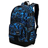 Cool Backpack for Teen Boys & Girls, Ricky-H Blue/Black Men & Women's...