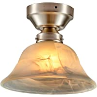 Pricelite Semi Flush Mount Ceiling Light,Ceiling Lamp Fixture Suitable for Bedroom, Hallway, Bar, Kitchen, Bathroom (BL003)