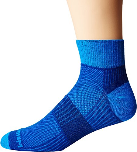 Wrightsock Unisex Coolmesh II Quarter Royal/Blue (Navy Blue Double Arch)