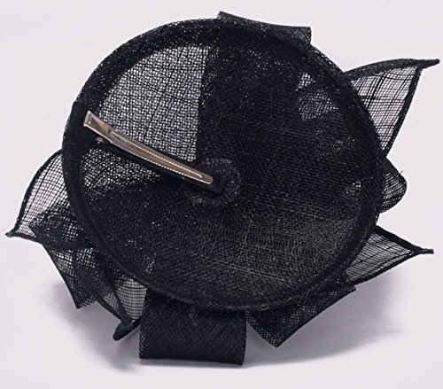 LeahWard®sac de femme Fashion Desinger Feather Mesh Hat Feather Fascinator Hair Clip Accessories Wedding Fête Racing CWH00204 CWH00203 CWHA002 CWH0051 CWH00206 (CWH00206-Noir)