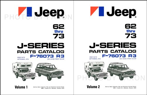 1962-1973 Jeep Gladiator and Wagoneer Parts Book Set Reprint J-Series