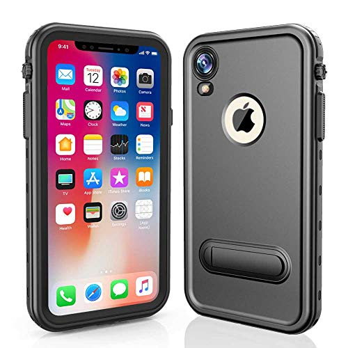 RedPepper iPhone XR 6.1 Waterproof Case, Underwater Full Sealed Cover Shockproof Dirtproof Snowproof IP68 Certified Waterproof Case with Built-in Screen Protector for iPhone Xr-(6.1 inch)