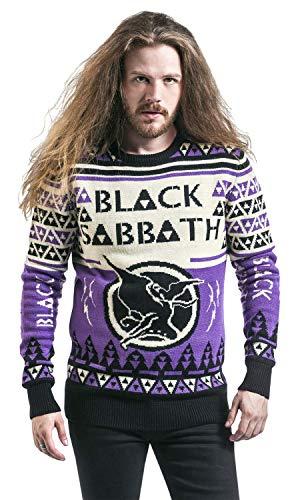 Black Sabbath Christmas Sweater.Black Sabbath Holiday Sweater 2018 Christmas Jumper Black