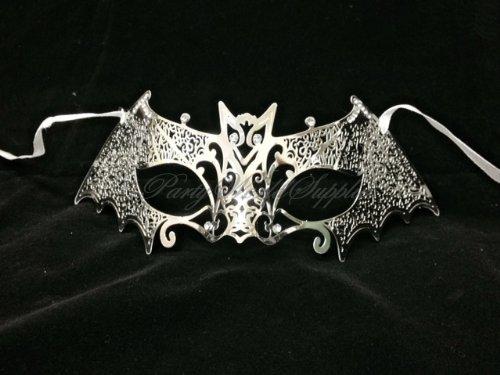 Silver Masquerade Mask Bat Mask Venetian carnival Halloween