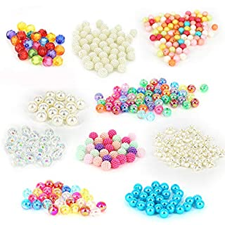 PICKME 360pc Assorted Beads for Bracelets Set, Adults and Kids Jewelry Making Kit, DIY Bracelet Making Kit for Girls with 10 Plastic Beads Designs, Girls Crafts Ages 8-12, Best Creative Gift Idea