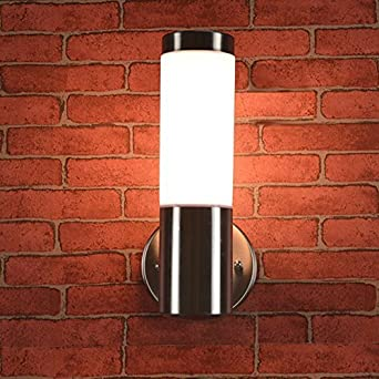 LED Wall Sconce Light ONEVER Waterproof Stainless Steel E27 LED ...
