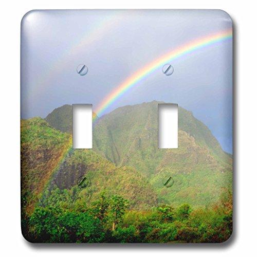 3dRose lsp_210319_2 USA, Hawaii, Kauai. Hawaiian Rainbow. Double Toggle Switch by 3dRose