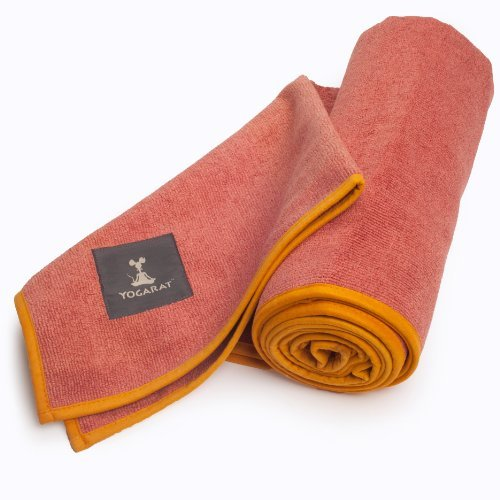 Cush Yoga Towel - 100% Microfiber Yoga Mat Towels - Without Silicone Backing - Absorbent - 600 GSM - Ultra-Thick for Bikram and Hot Yoga -  Multiple Sizes and Colors - 24