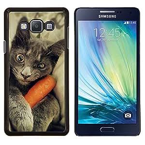 LECELL--Funda protectora / Cubierta / Piel For Samsung Galaxy A7 A7000 -- Chartreux gato azul ruso divertido gatito --