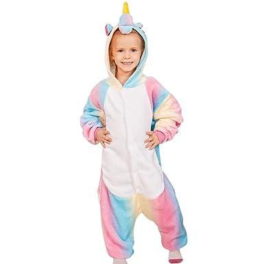 36933aa8b68d Amazon.com  EbuyChX Rainbow Unicorn Animal Family Onesie Pajamas ...