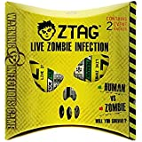ZTag- A Live Action, Zombie Themed Game of NO Contact Tag- Interactive LED Smart Badges do the 'tagging' - 2 Player Pack