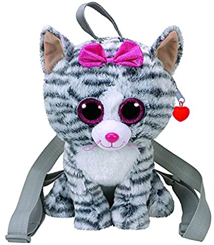 Amazon.com  TY Gear Backpack - KIKI the Grey Cat (13 inch)  Toys   Games 5f2f867ee302