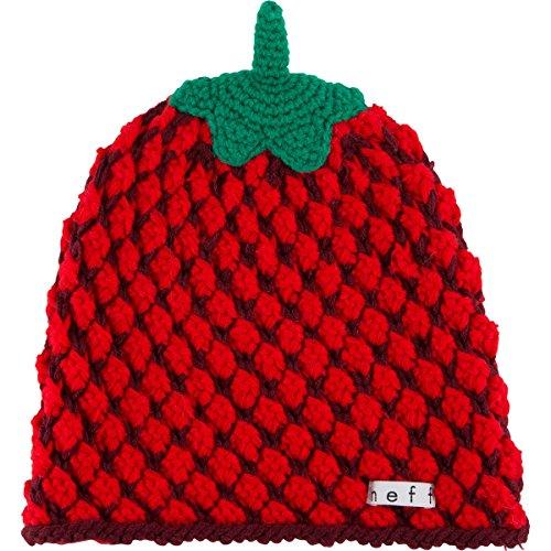 [Neff Women's Fruit Beanie, Strawberry, One Size] (Fruit Hat Lady)