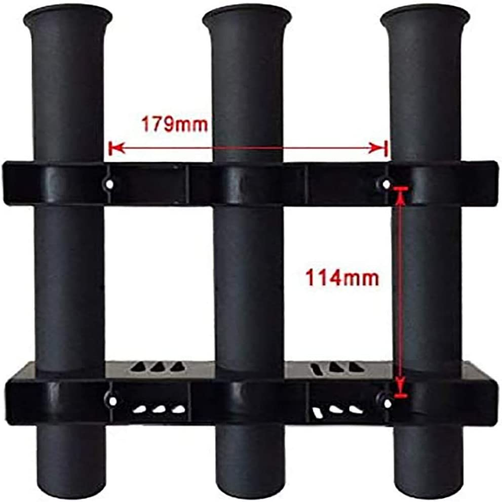 Rohr 3 Rutenhalter POFET Angelrutenhalterung Angelrute f/ür Bootskajakgaragenlager oder LKW mit Schrauben seitlich schwarz