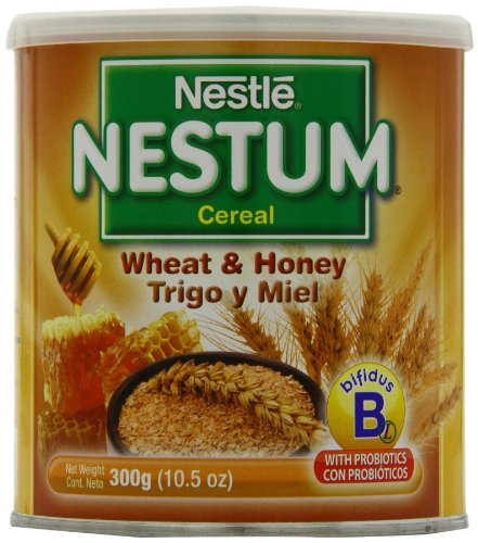 Nestle Nestum Cereal, Wheat and Honey, 10.5-Ounce Container (Pack of 6)
