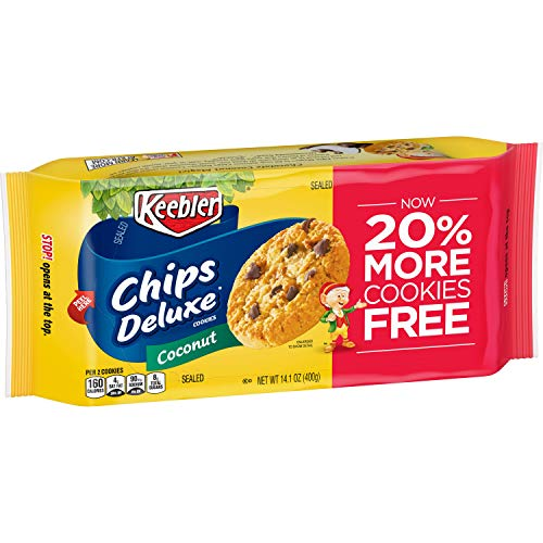 Deluxe Chip - Chips Deluxe Coconut Cookies, 14.1 Ounce (Pack of 12)