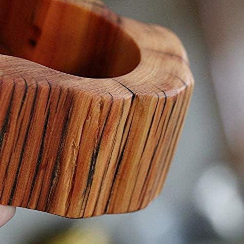 Luckya レトロな家具の灰皿喫煙ジュエリーアートクラフト手作り家族の杉の木の灰皿