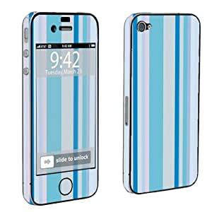 Apple iPhone 4 or 4s Full Body Decal Vinyl Skin - Blue Stripes By SkinGuardz