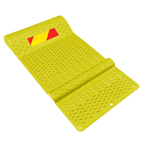 Electriduct Plastic Park Right Parking Mat Guides for Garage Vehicles, Antiskid Car Safety - Yellow by Electriduct