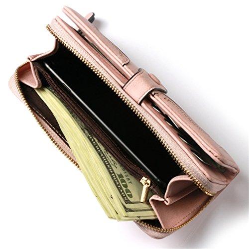 Hasp la Haoling Titulaire Embrayage Poche Femme Monnaie En Porte Carte Monnaie Mode Portefeuilles Zipper Femmes de Cuir Pour Longue Porte Argent Coin Femmes blue Portefeuille HzxZPwH