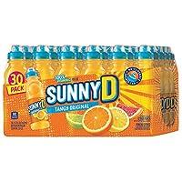 SunnyD Tangy Original Orange Flavored Citrus Punch 100% Vitamin C Fortified Drink in Sport Cap Bottle - 30 Pack (11.3 oz)