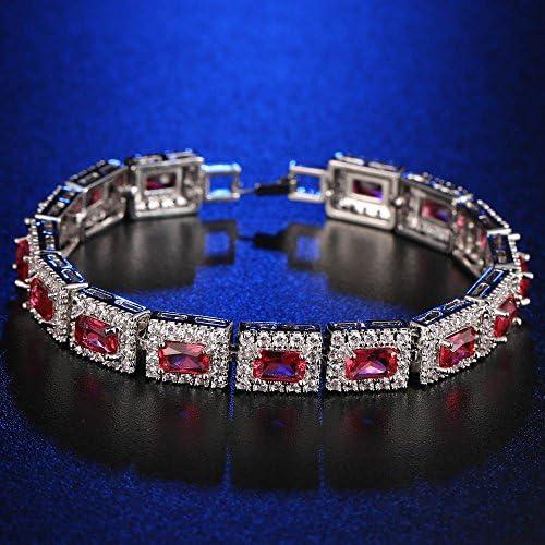 Yazilind Femmes Bracelet plaqu/é Occidental Style de Platine incrust/ée de Zircon Bracelet pour Bijoux de Noces