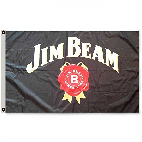 2But Jim Beam Flag Banner 3X5FT Bar Club Garage Mancave Beverage Whiskey ()