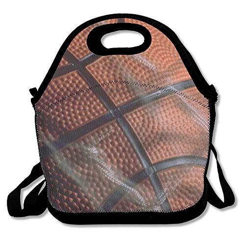 Neoprene Lunch Tote - Basketball Wallpaper Waterproof Reusable Picnic Travel Tote Lunch Bag For Men Women Adults Kids Toddler Nurses With Adjustable Shoulder Strap - Best Travel Bag