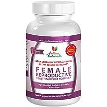 Activa Naturals Female Fertility Vitamins Supplement with Reproductive Health Booster Multivitamin Formula D Chiro Inositol, Myo Inositol & Chaste Tree Herbs - 60 Veg. Capsules