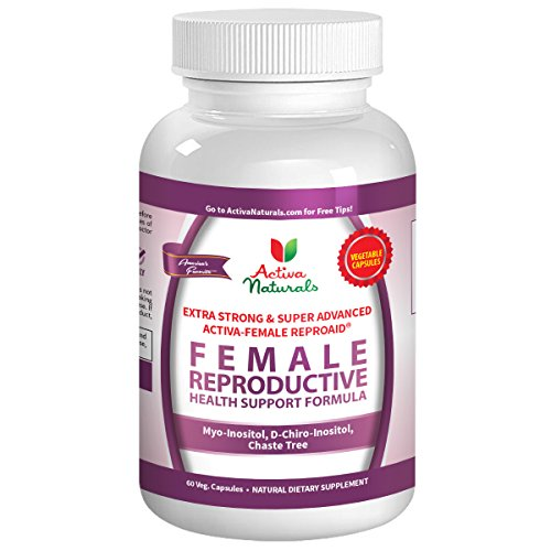 Activa Naturals Female Fertility Vitamins Supplement with Reproductive Health Booster Multivitamin Formula D Chiro Inositol, Myo Inositol & Chaste Tree Herbs - 60 Veg. Capsules (Fertility Female)
