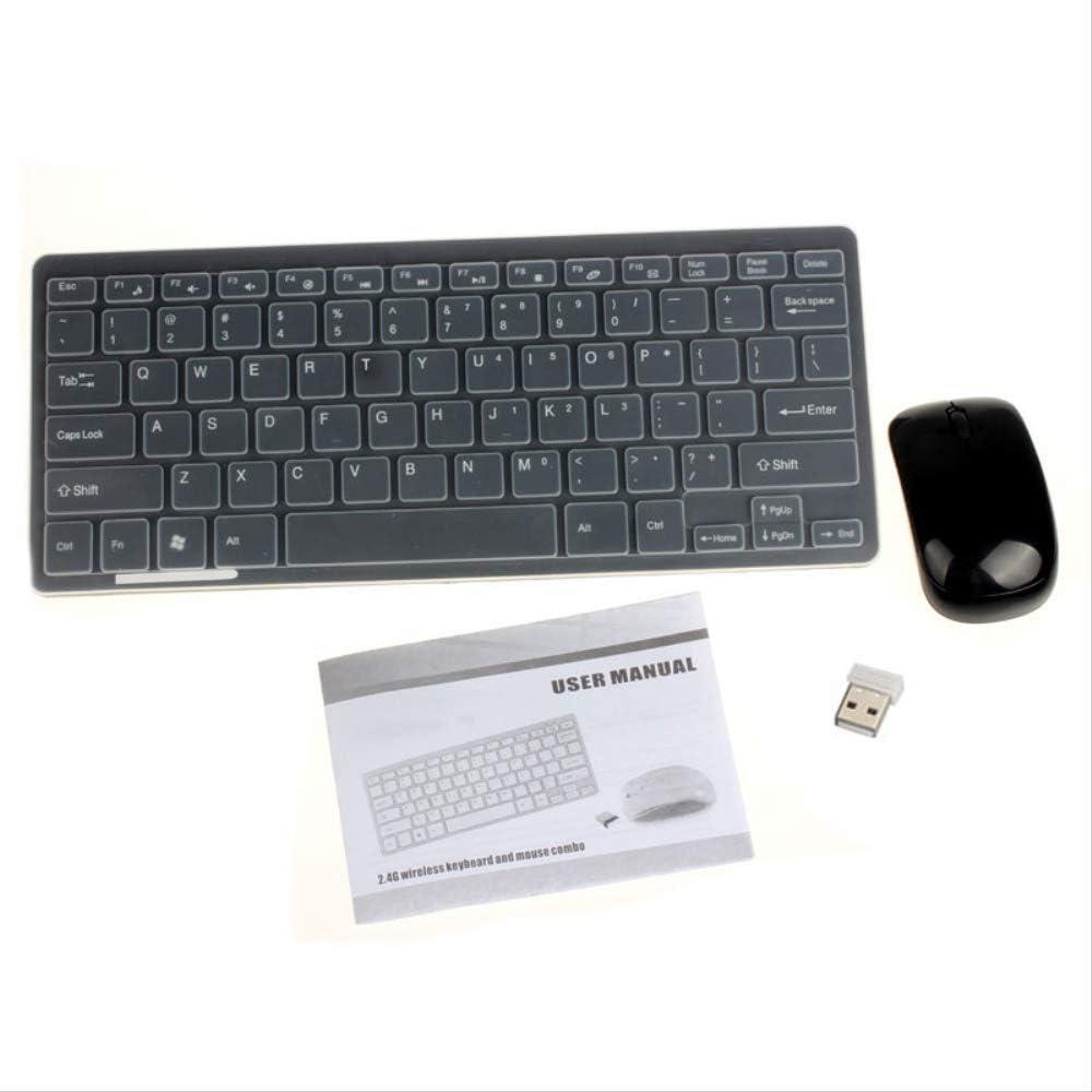 LMDZSW 2.4g Mini Teclado inalámbrico y ratón óptico Combo Black/Whit para Samsung Smart TV Desktop PcBlack