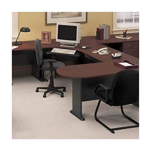 (Bush Business Series A Hansen Cherry U-Shape Office Suite )