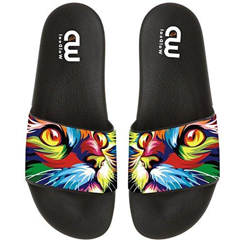 Girl Women Summer Sandal Oil Beach Shoes Charming Slide Outdoor Slipper Kid Boy Men Painting Cat For 4Tv8RqgT