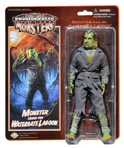 Monster from the Watergate Lagoon - Presidential Monsters - Richard Nixon as a Fish Monster - 8 1/4