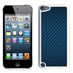 New Beautiful Custom Designed Cover Case For iPod 5 With Textures Background Line Blue (2) Phone Case
